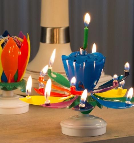 Spinning Cake Candle