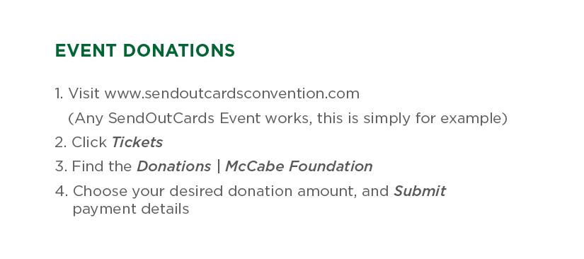 McCabe Event Donations